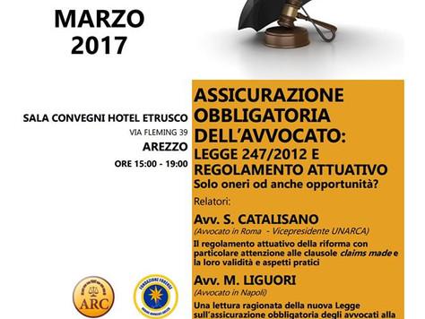 Convegno presso il Consiglio dell'ordine degli Avvocati di Arezzo