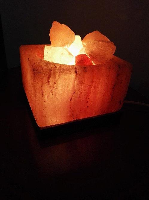 Lampada di Sale Rosa Himalayano Braciere Quadrato