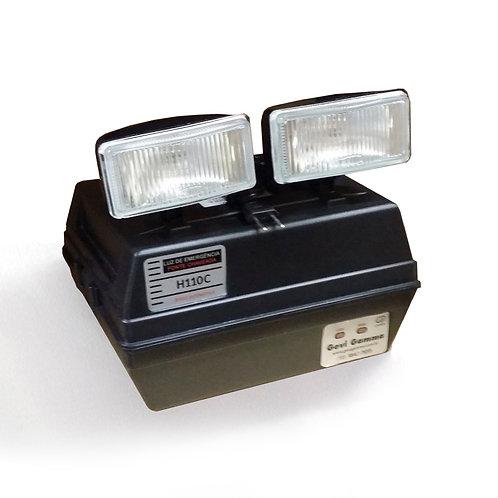 Luminária de Emergência Autônoma - H110C -Preta