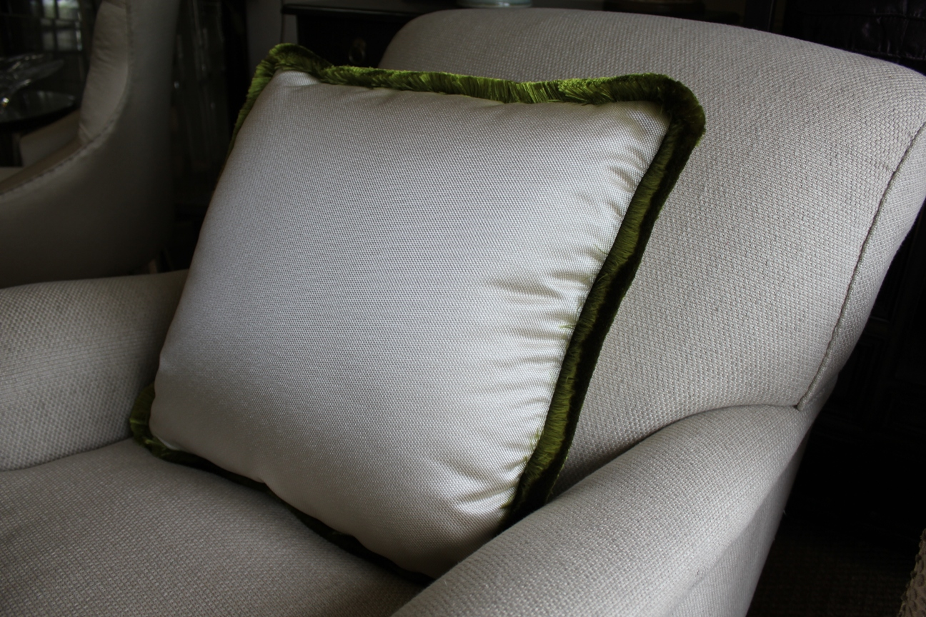5. Ruche trim cushion