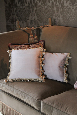 15. Standard square cushions with hand sewn Heritage trimmings
