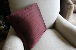 17. Standard squre cushion with fabric pleated over