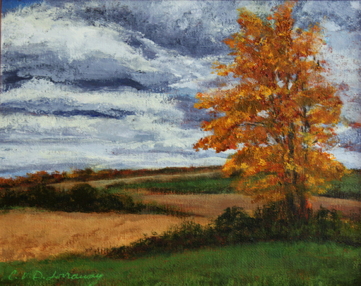 Blustery Fall Day Plein Air