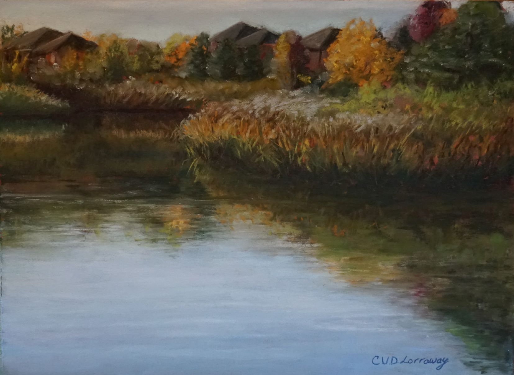 Fall Pondview Plein air