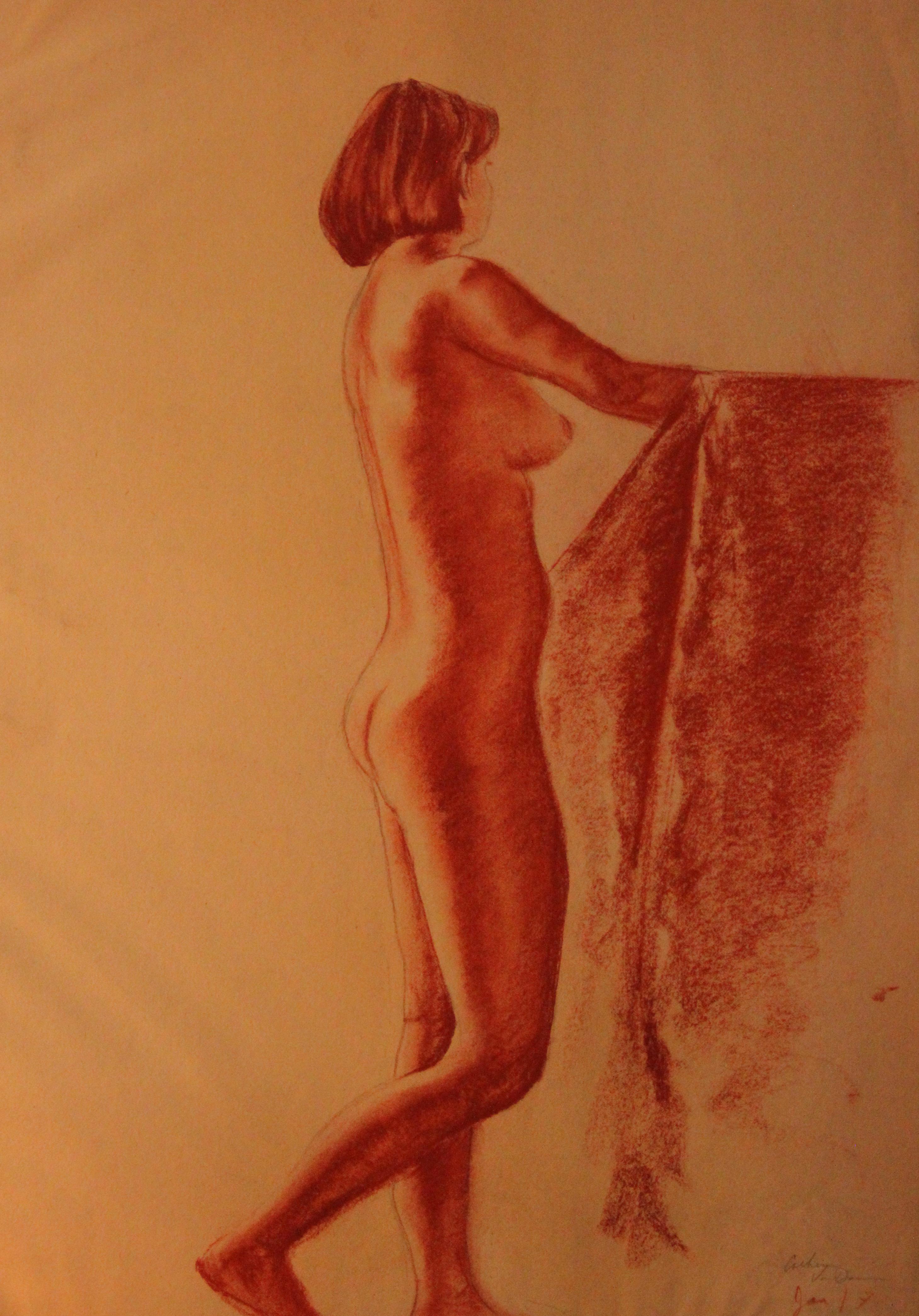conte modeling drawing c lorraway