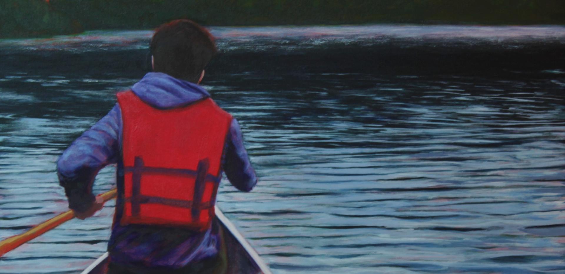 Nicholas in the Canoe