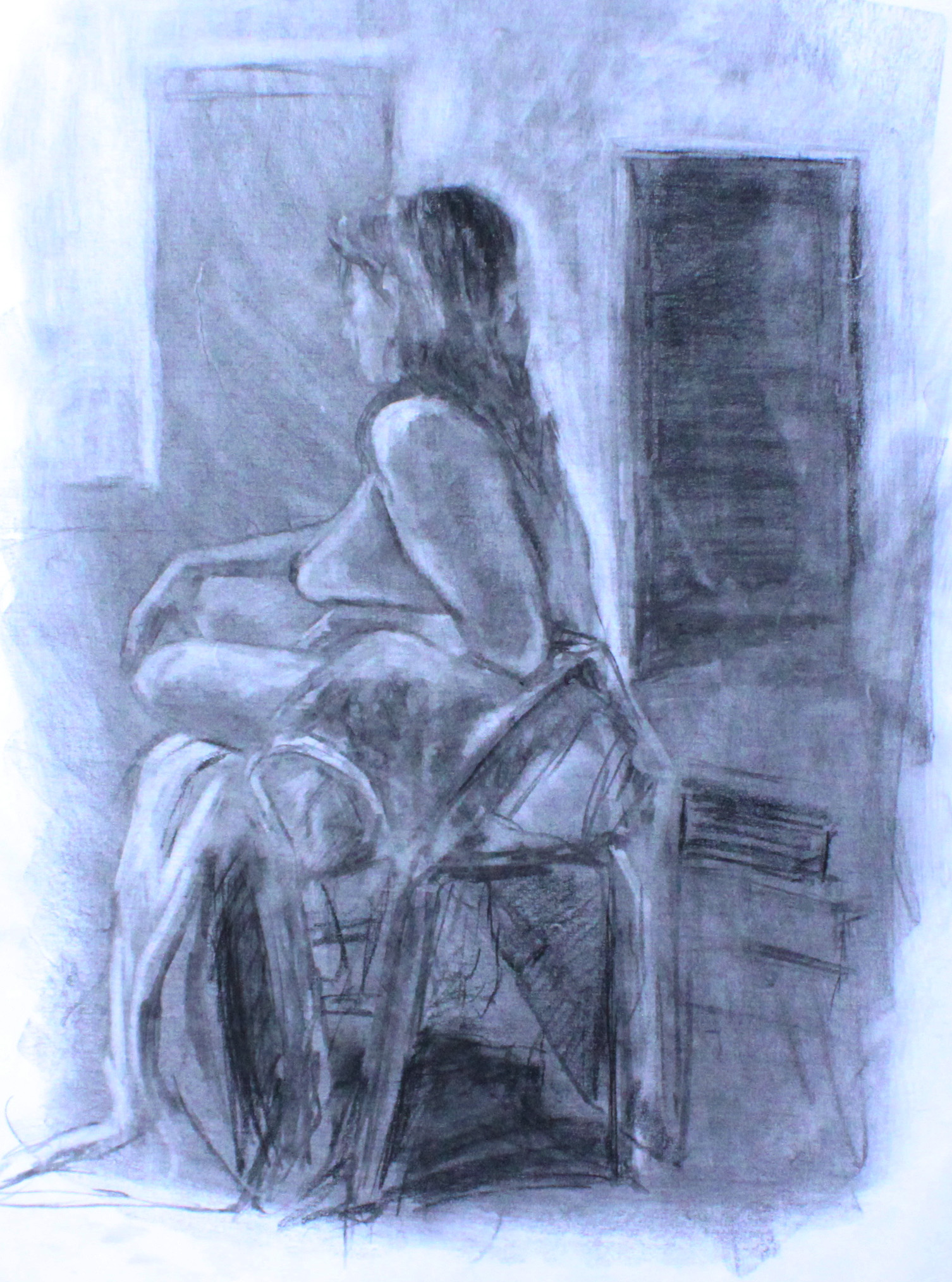"""Seated Figure Near Window"""