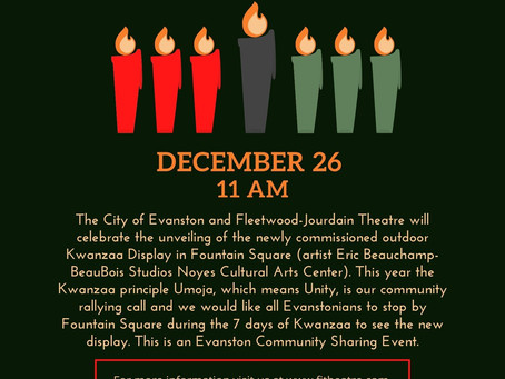 Kwanzaa begins this Saturday, December 26: Join FJT for the unveiling of a new Kwanzaa display.