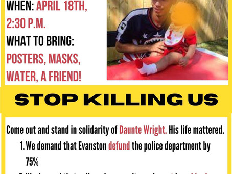 Stop killing us: EFBL and NUCNC to honor Duante Wright.