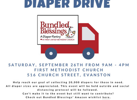 Saturday, September 26: Pack-the-Truck Diaper Drive.