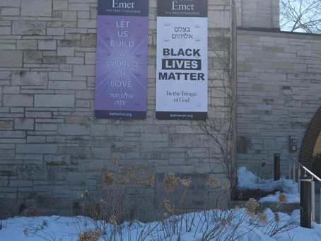 Beth Emet is the most recent house of worship to add a Black Lives Matter sign to their property.