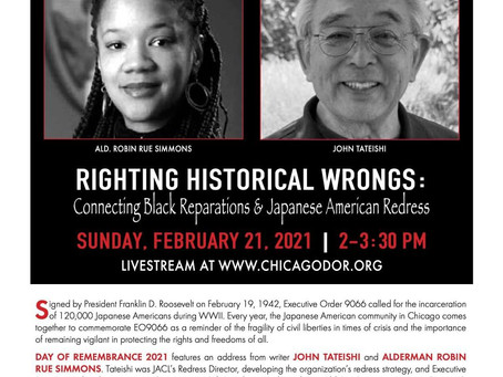 """""""Righting Historical Wrongs: Connecting Black Reparations & Japanese American Redress."""""""