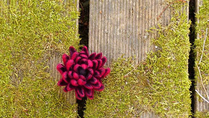 gefilzte Blüte