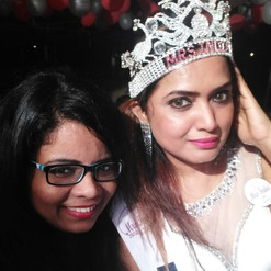 with Mrs.India