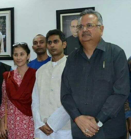 With Chattisgarh CM