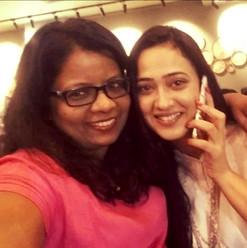 With Shweta Tiwari