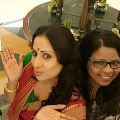 With Sunita Ghosh