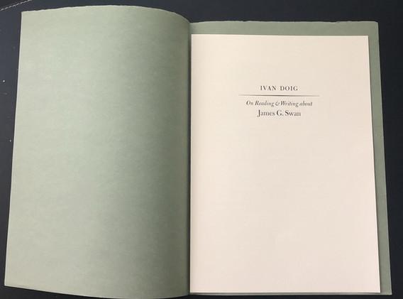 Ivan Doig on James G. Swan (1983)