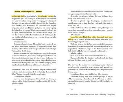 Die drei Niederlagen des Denkers von Peter Bichsel