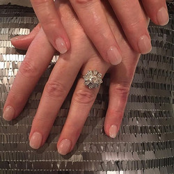 Some wedding nails for the classiest gal I know #nailsoncrockett #lucywedsted #nye2016