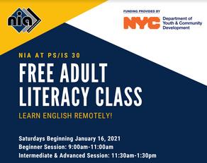 Free Adult Literacy Class