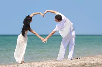 Verliebt Meer Herz Urlaub Paar Amorex