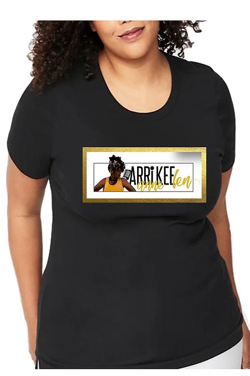 Women's Black Crew Neck