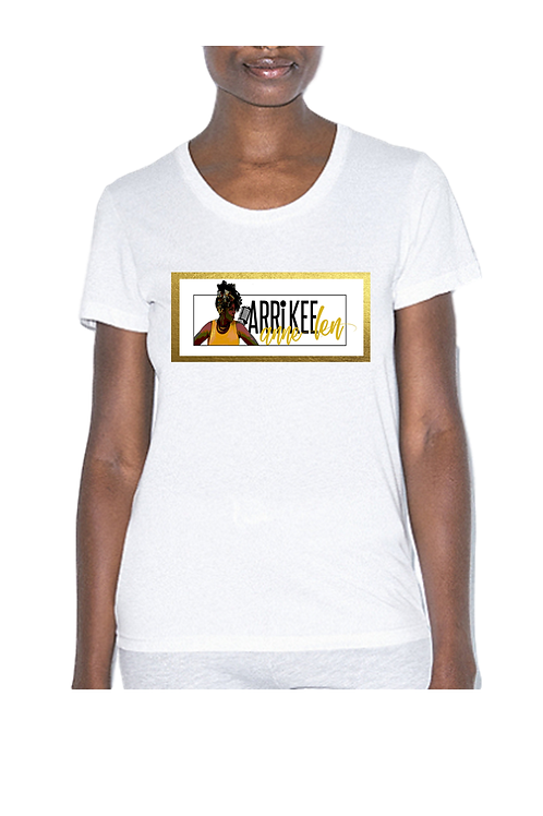 Women's White Crew Neck T-Shirt