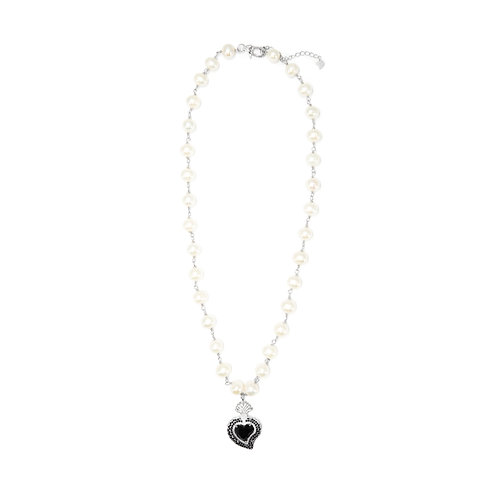 Rocky Radiant Heart (Black/Pearls)