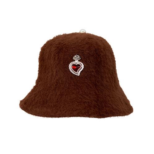 Radiant Heart Bucket Hat (Brown)