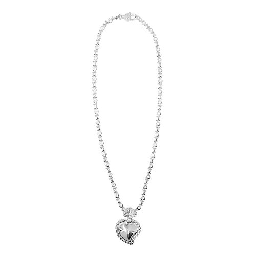 Radiant Heart XOXO Necklace (Solid)