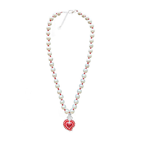 Radiant Bead Necklace (Red)