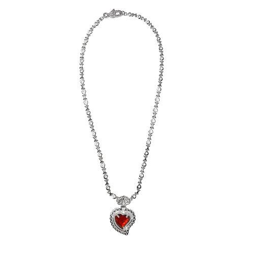Radiant Heart XOXO Necklace (Stone)