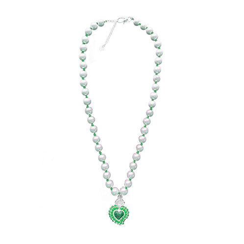 Radiant Bead Necklace (Green)