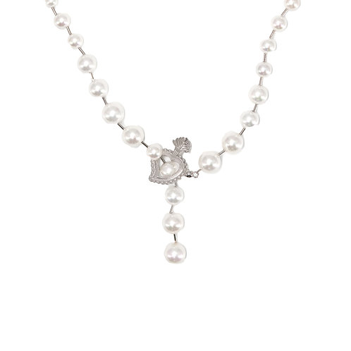 Ball and Pearl Necklace