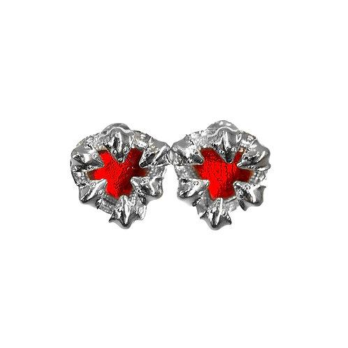 Pree Snake Earrings (Red)