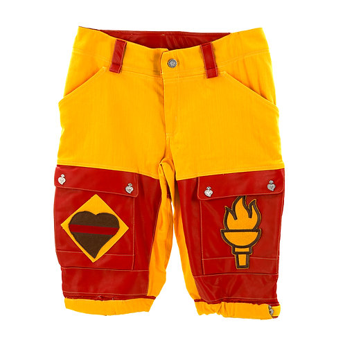 Romping Cargo Shorts (Red/Yellow)
