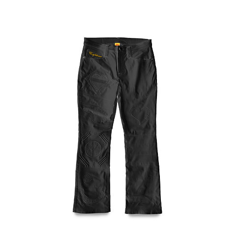 World Boss Leather/Denim Pants (Black)