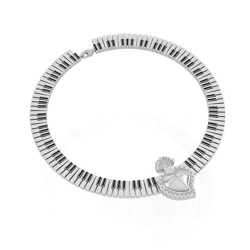 Radiant Heart Piano Choker