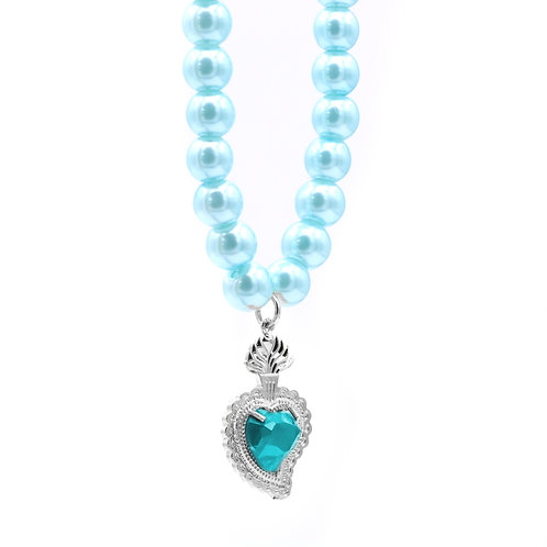 Radiant Heart Pearls (Aqua/Aqua)