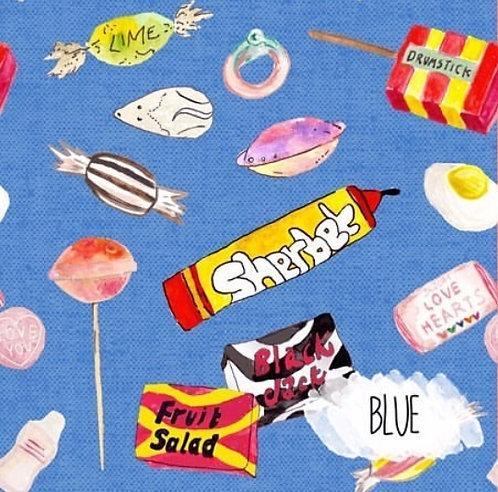 Traditional sweet dribble bib - Blue