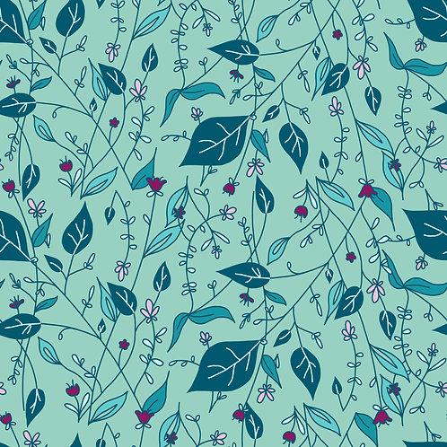Floral dribble bib - Mint