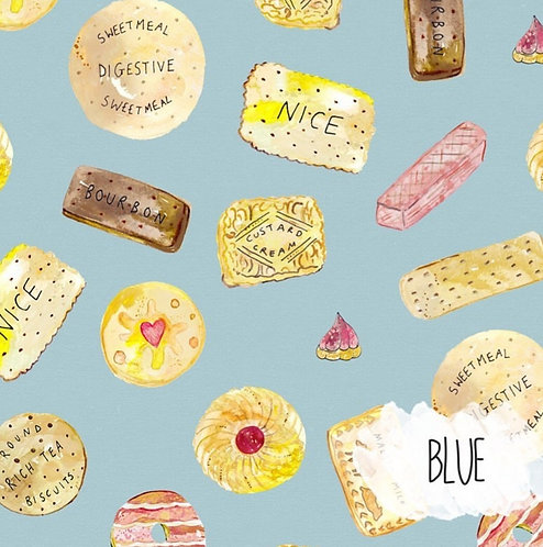 SWEET TREATS dribble bib - Light blue