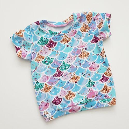Mermaid print short sleeve t-shirt