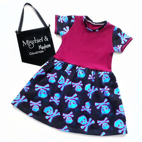 NEON SKULLS dress - two styles