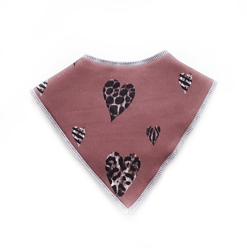 Marble hearts dribble bib