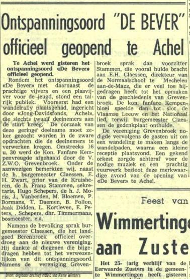Domein De Bever opent op 25 mei 1964