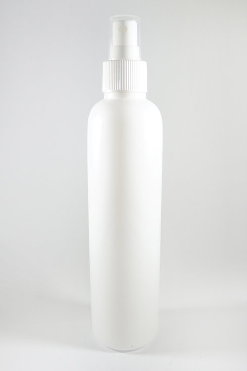 250ml HDPE Bullet White Bottle with Sprayer