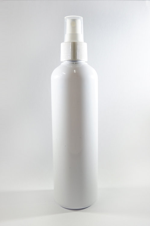 250ml PET Cylindrical White Bottle with Sprayer