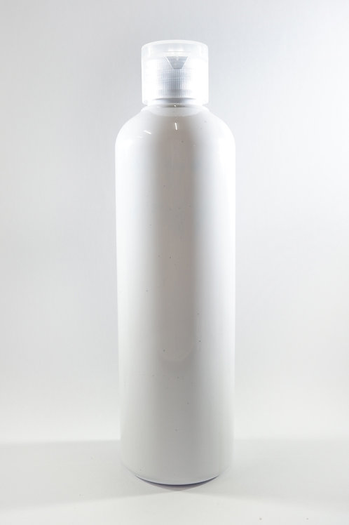 250ml PET Cylindrical White Bottle with Flip Cap